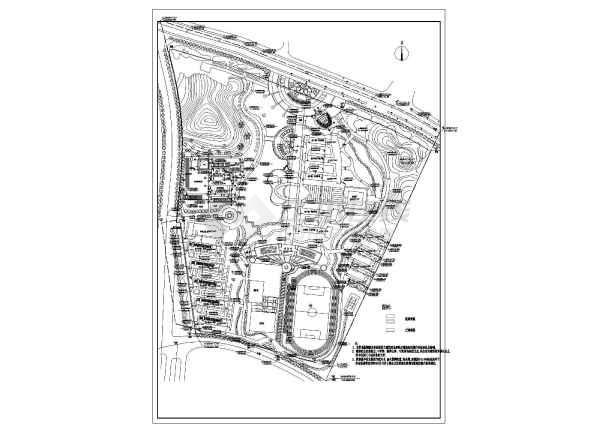 马鞍山双语学校建筑规划平面CAD设计图纸-图1
