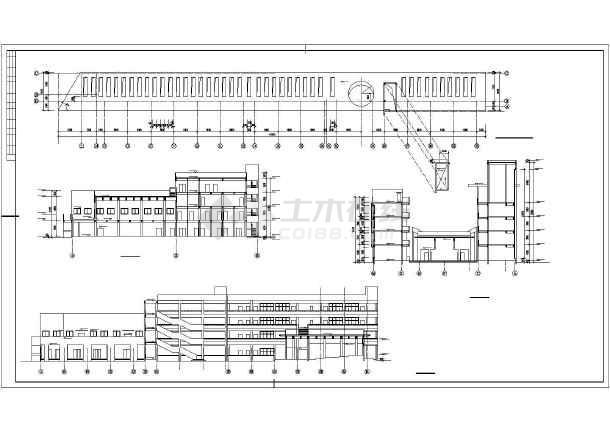 某学校综合楼平面建筑CAD设计图纸-图1