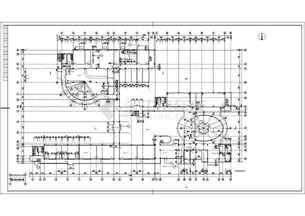 某学校综合楼平面建筑CAD设计图纸-图2
