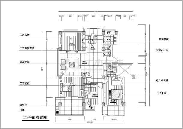 某小区住宅户型方案建筑CAD设计图集-图2