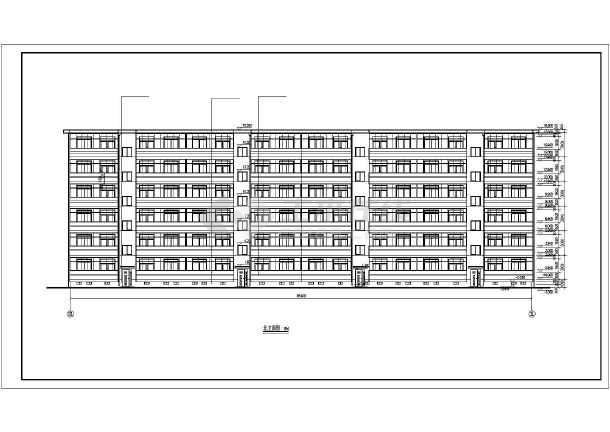 某市小区多层住宅建筑CAD施工图纸-图1