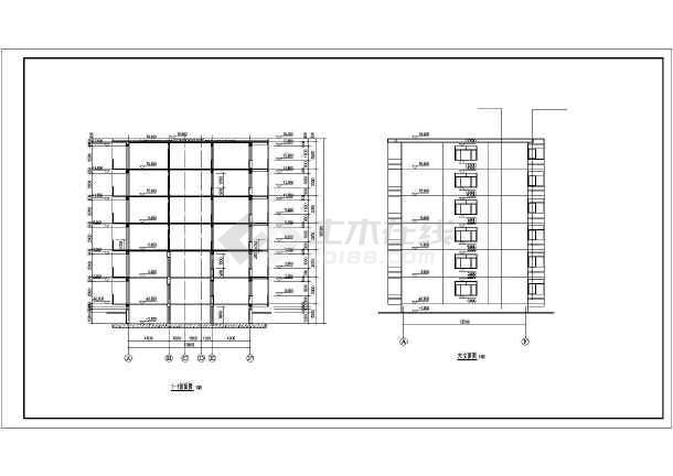 某市小区多层住宅建筑CAD施工图纸-图2
