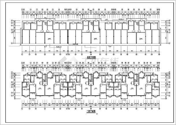 某市住宅区小高层住宅楼CAD建筑设计图-图2