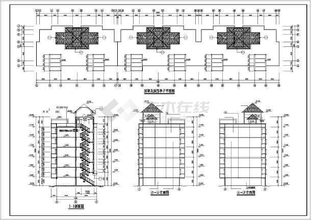 某市住宅区小高层住宅楼CAD建筑设计图-图3