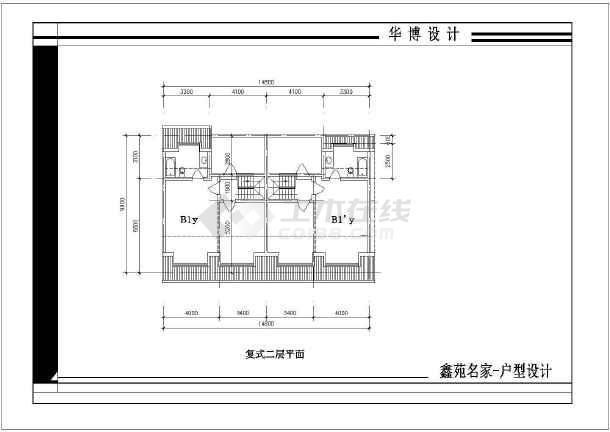 鑫苑名家住宅户型建筑CAD设计施工图纸-图3