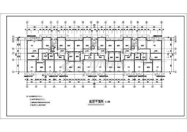 某地区多层住宅一套建筑图-图2