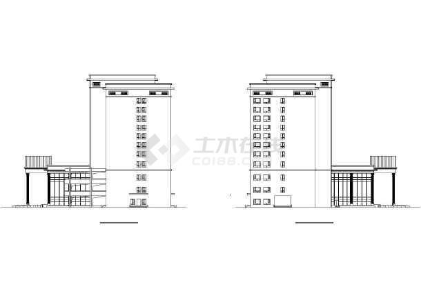 五星酒店公共建筑施工图-图1