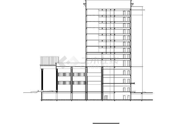 五星酒店公共建筑施工图-图2