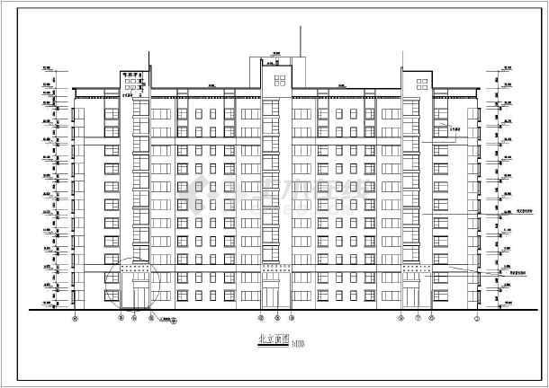 某地区一套高层住宅建筑图-图1