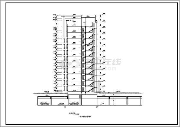 某地区一套高层住宅建筑图-图2