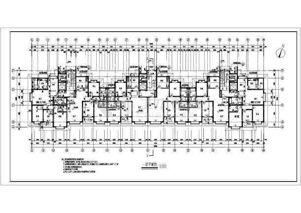 某地区一套高层住宅建筑图-图3