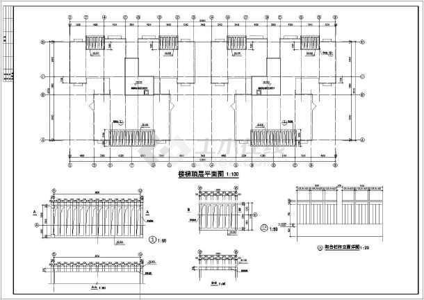 某地区一套详细的多层住宅建筑图(含银河娱乐官网说明)-图2