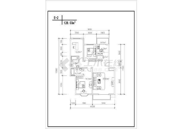 某居民住宅楼CAD建筑设计户型图集-图1