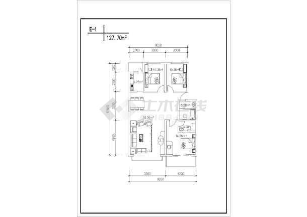 某居民住宅楼CAD建筑设计户型图集-图2