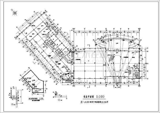 某地区全套会所建筑图-图1