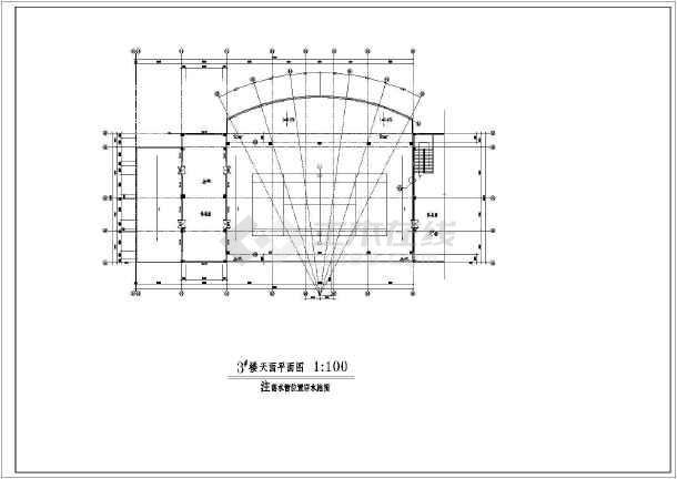 某地区全套会所建筑图-图3
