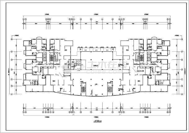 某地区一套比较简单的高层住宅建筑图-图1
