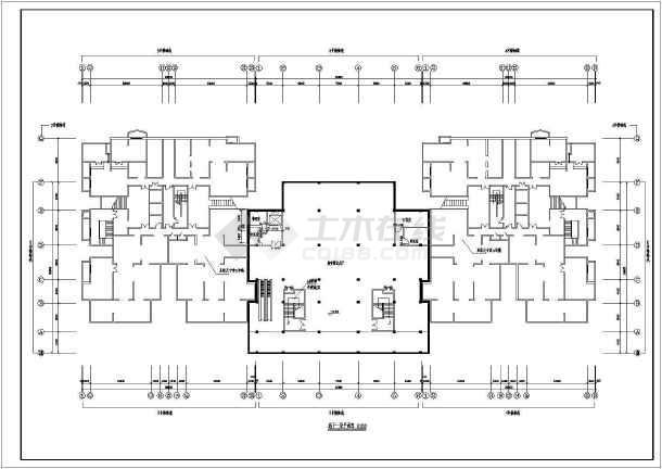 某地区一套比较简单的高层住宅建筑图-图2