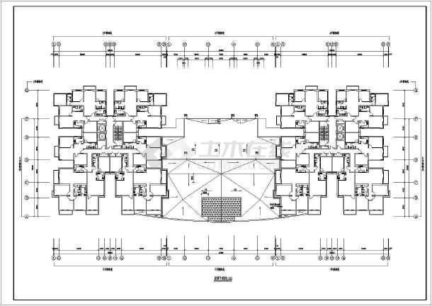 某地区一套比较简单的高层住宅建筑图-图3