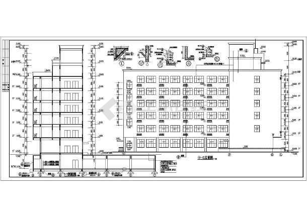 某地区一套底商住宅建筑图-图1
