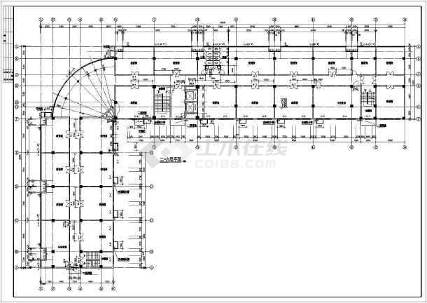 某地区一套底商住宅建筑图-图2
