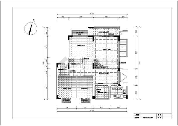 三室两厅两卫cad平面装修全套施工图-图3