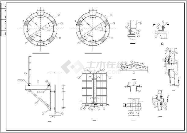 超高180米混凝土烟囱cad结构设计施工图-图1