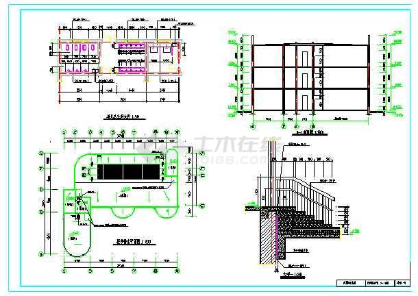 2018最新整理50套各式风格特点幼儿园建筑设计施工图-图1