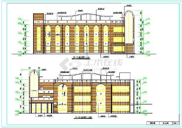 2018最新整理50套各式风格特点幼儿园建筑设计施工图-图2