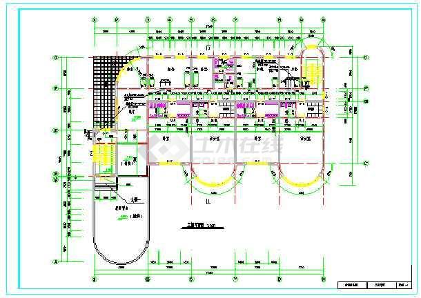 2018最新整理50套各式风格特点幼儿园建筑设计施工图-图3