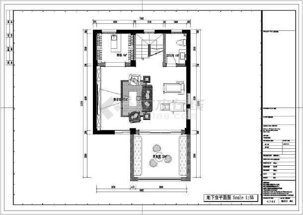 某地欧式风格的别墅室内设计施工CAD图-图2