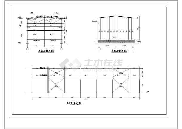 某钢结构厂房(带吊车)结构图纸