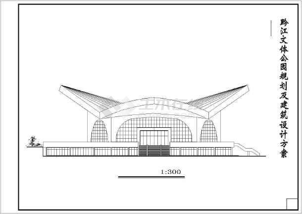 某圆形商场全套建筑设计施工图纸