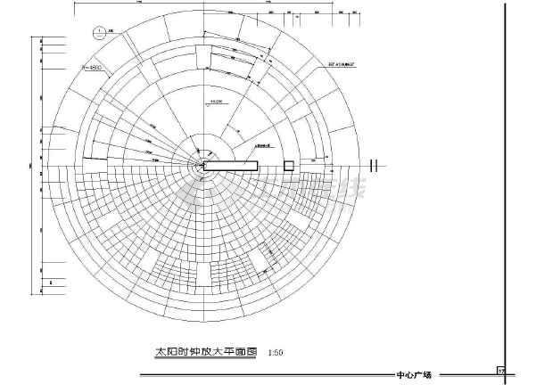 雕塑、休闲、城市广场建筑施工设计CAD图-图2