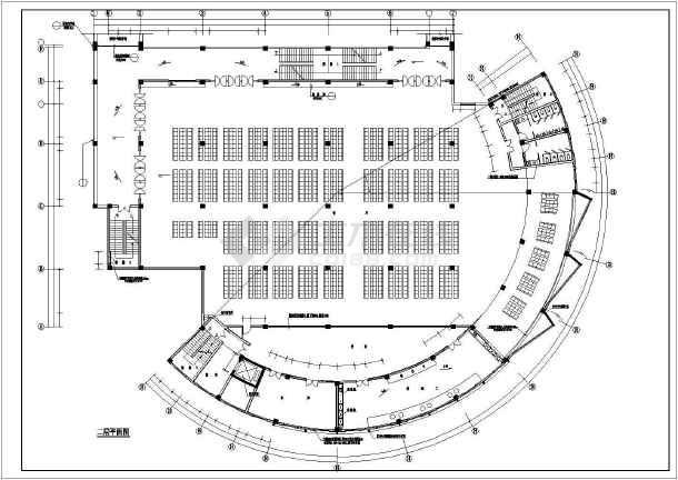 [学校食堂]某学校食堂建筑施工cad设计图 - 土木在线