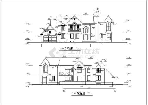 新中式全套图纸图纸建筑设计风格钢结构学别墅图片