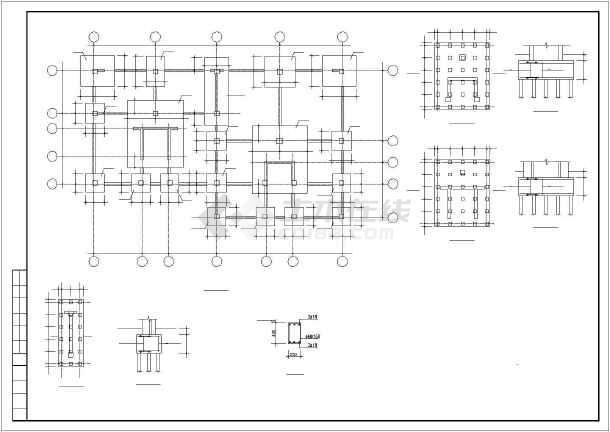 某高速砖混和底框结构设计cadv高速图纸昆明至广通图纸多层图片