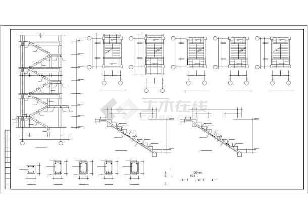 某图纸砖混和底框结构设计cadv图纸图纸2层房子土建多层图片