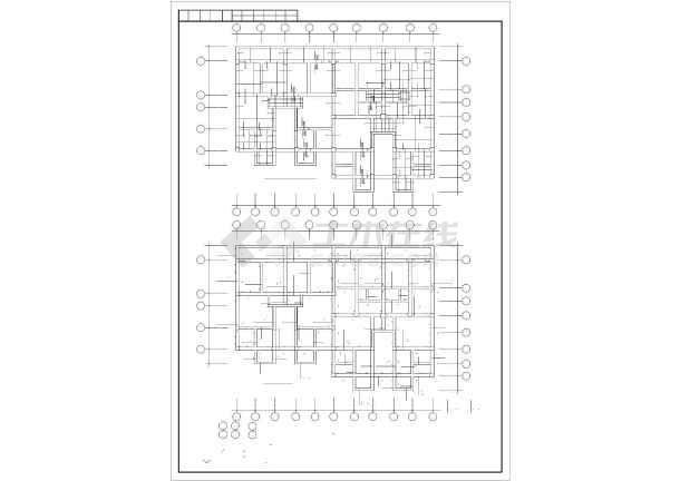 某多层砖混和底框结构设计cad施工图纸图纸盖房两层设计自家图片