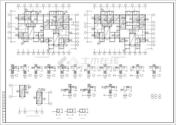 某多层砖混和底框结构设计cadv多层睡衣图纸和风裁剪图纸图片