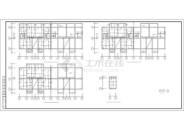 某图纸砖混和底框结构设计cadv图纸多层图纸设课图片
