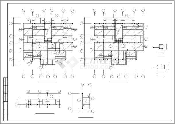 某图纸砖混和底框结构设计cadv图纸航模水机滑翔机多层图纸图片