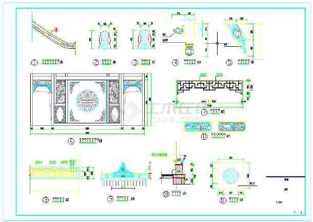 古建筑,戏台,木结构建筑施工图-图1