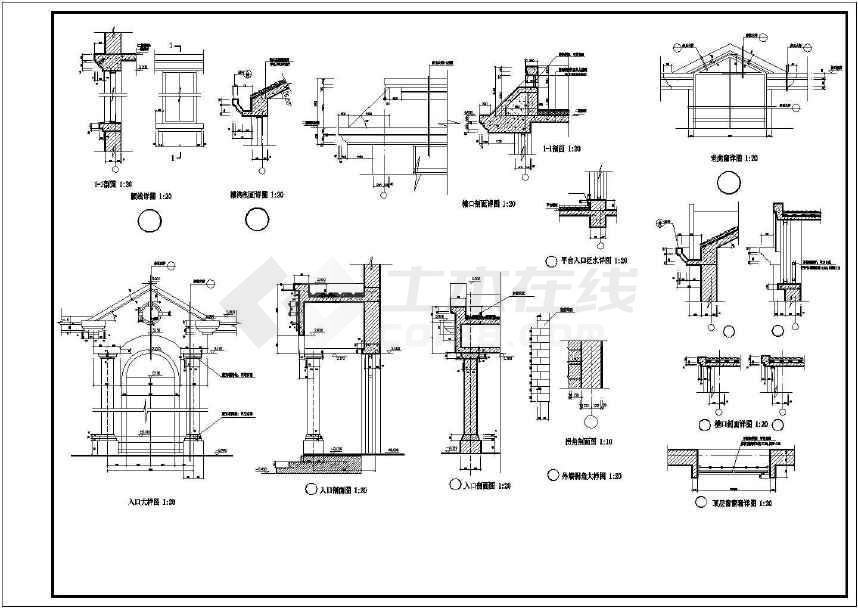 混凝土别墅建筑结构图纸