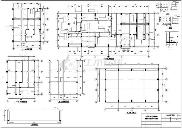 某钢结构厂房(高炉煤气余压发电系统)结构图纸