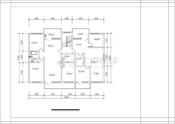 高档错层经典别墅建筑户型图集-图1
