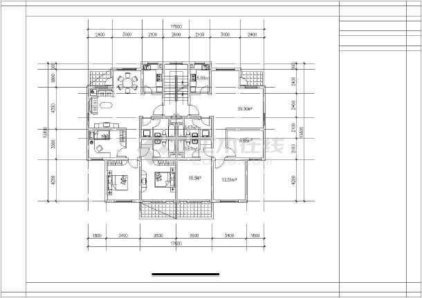 高档错层经典别墅建筑户型图集-图2