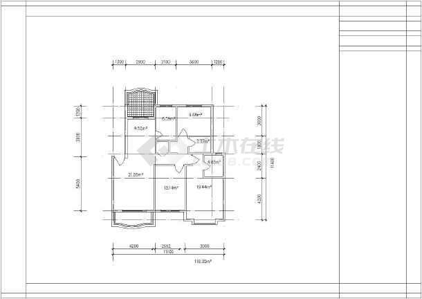 高档错层经典别墅建筑户型图集-图3