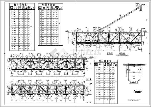 某60米跨钢结构厂房结施工图纸