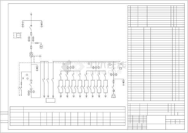 市政主干道路段路灯变系统图及接线图-图3